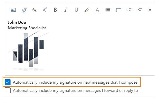 Signatur automatisch einfügen