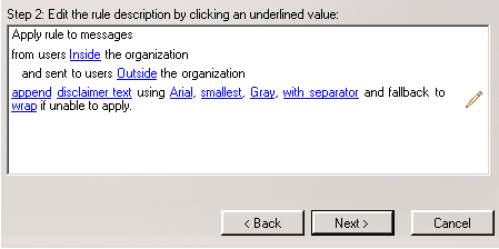 Disclaimer Text