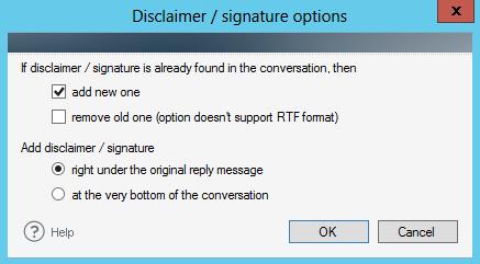 Disclaimer-signature-options