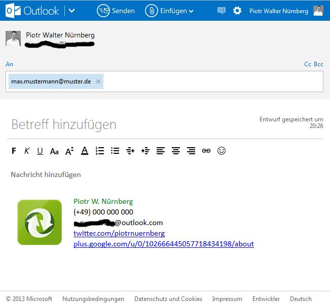 Signatur in E-Mail