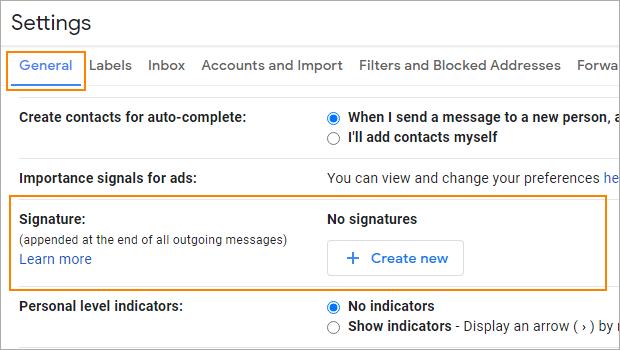 Gmail-Signatur ändern