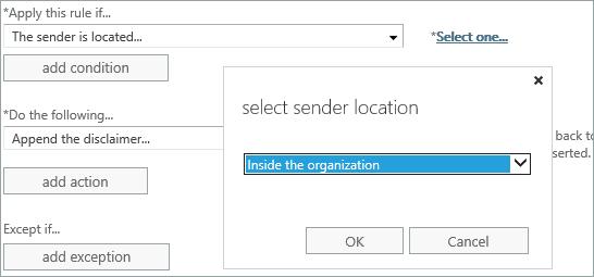 Sender location