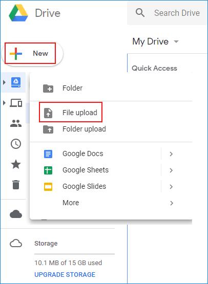 Direkter Bildlink bei Google Drive