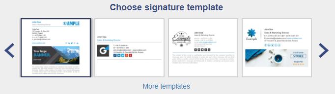 Vorlagen für E-Mail-Signatur