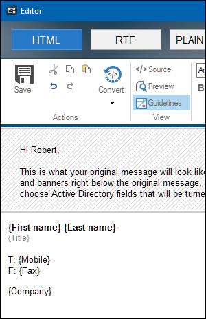Vertikale E-Mail-Signatur