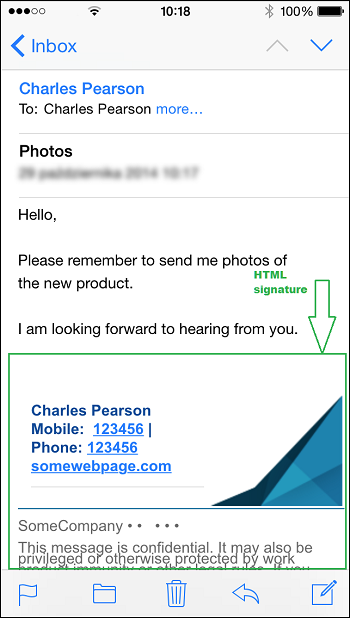 E-Mail-Signatur auf Mobilgerät: Richtige Formatierung