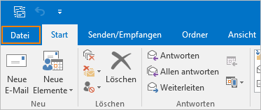 E-Mail-Einstellungen in Outlook
