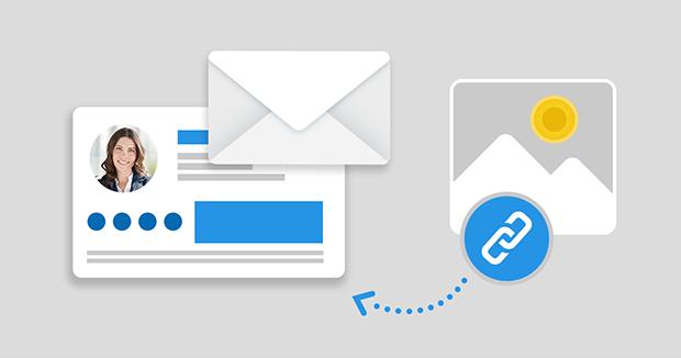 Outlook: Email-Signatur mit verlinktem Bild/Bild aus dem Internet erstellen