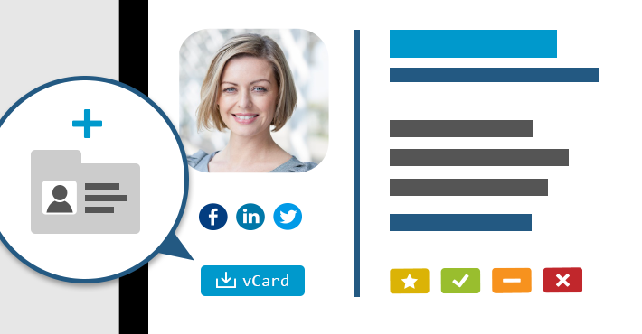 VCards in E-Mail-Signaturen