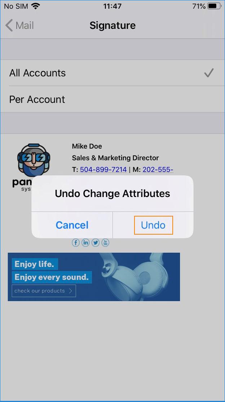 E-Mail-Signatur in iOS einfügen