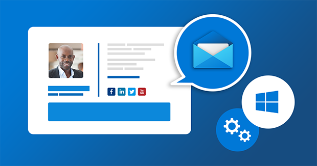 So erstellen Sie E-Mail-Signatur in der integrierten Mail-App von Windows 10