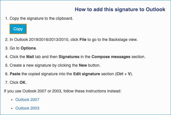 Signatur kopieren