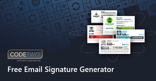 email signature design software
