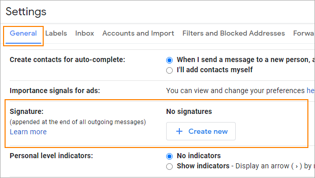 How to change email signature in Gmail