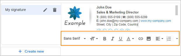 Change email signature in gmail