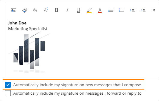 Automatically include signature in new messages