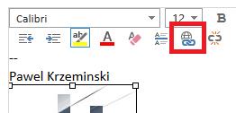 Insert Hyperlink button in Office 365 OWA