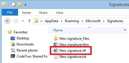 """My """"New signature"""" RTF file"""