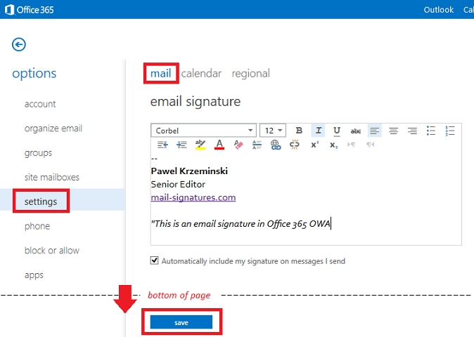 what to include in an email signature