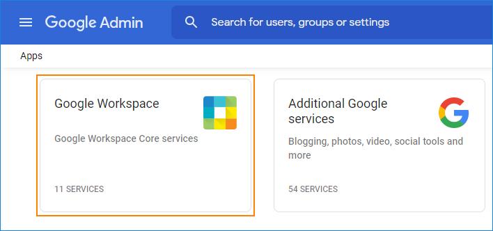 02 - Google Workspace services