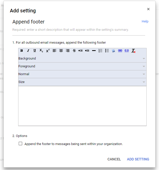 automatic email signatures in G Suite