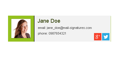 What information to include in private email signatures