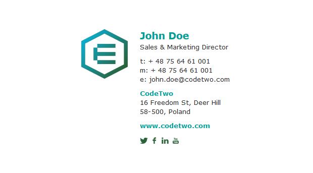 Plain text 2 with logo
