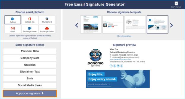 Create email signature on iOS-Email Signature Generator