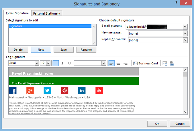how to create email signature in outlook - Isken kaptanband co