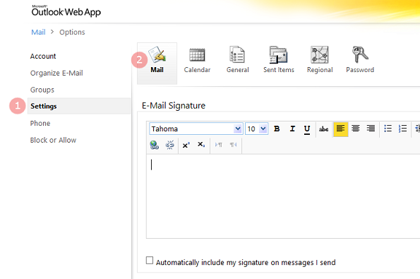 How to add a HTML email signature in OWA 2010