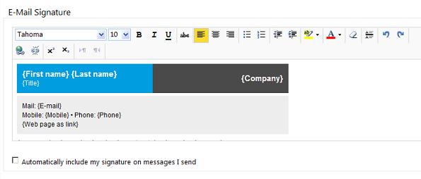 work email signatures