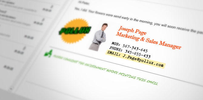 Email signatures for marketing & branding purposes?