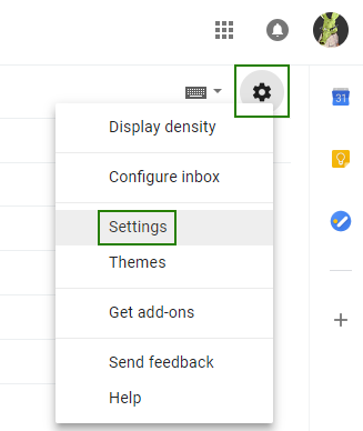 Canned responses Gmail - settings