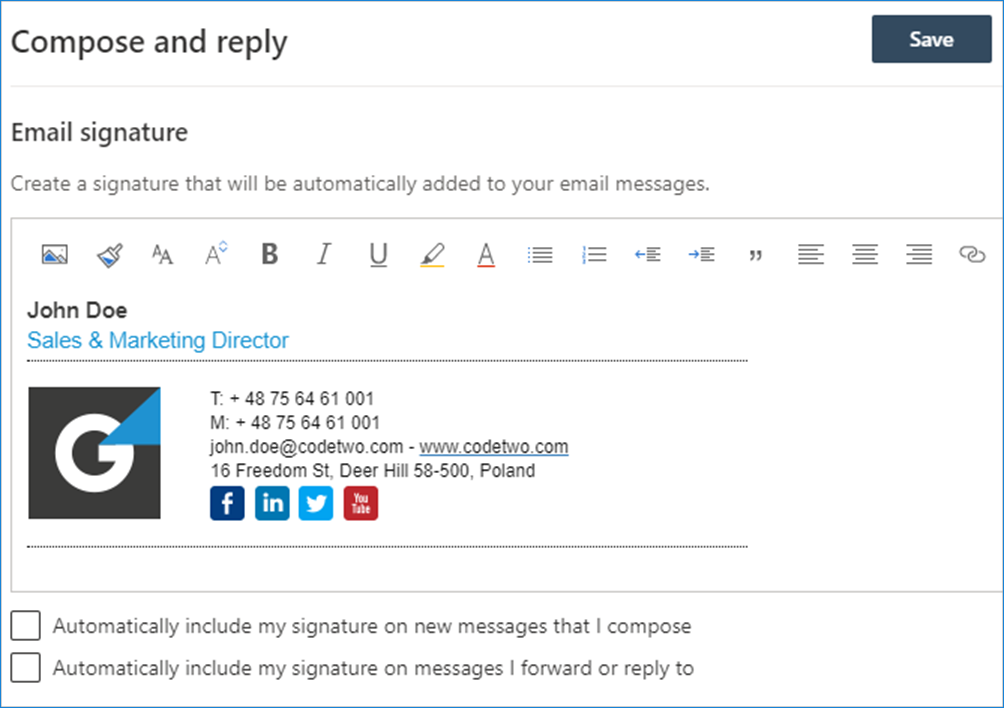 Outlook on the web Compose and reply