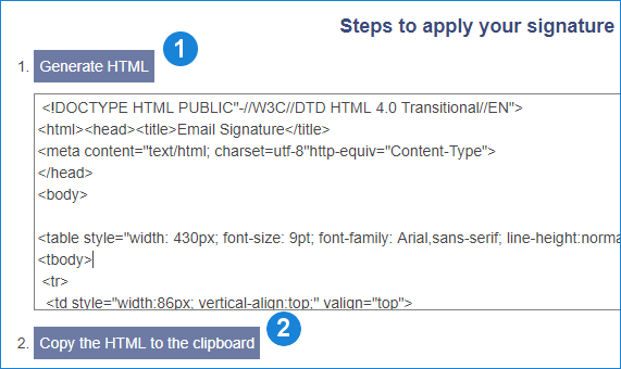how to set up email signature in Outlook for iOS - generate & copy