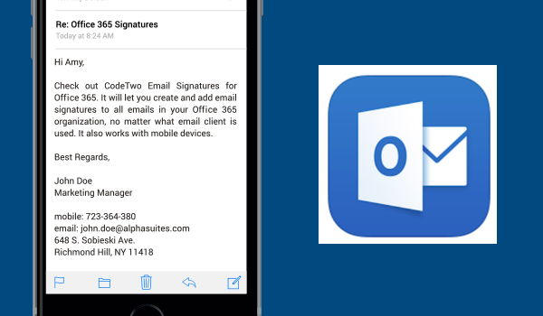 How to set up an email signature in Outlook for iOS