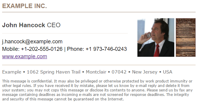 Perfect CEO Email Signature - how to design a director's signature