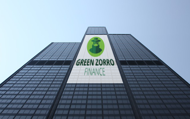 corporate identity green zorro finance logo