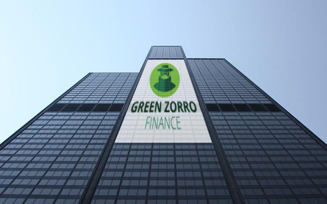 corporate identity green zorro finance logo