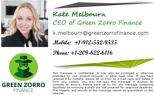 Green Zorro Finance corporate identity signature