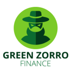 Green Zorro Finance logo corporate visual identity.