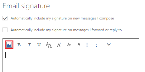 office 365 email signatures not working no image 2