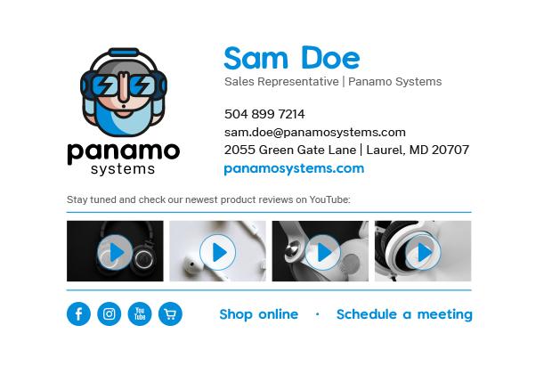 Sales email signature design example
