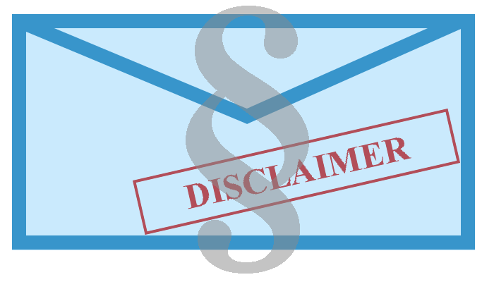 13 best samples of email disclaimers - email disclaimer examples