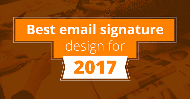 Best email signature design 2017