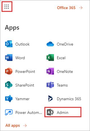 Office 365 portal - apps