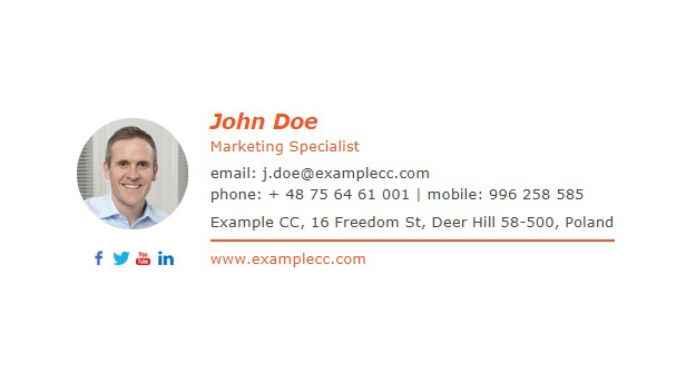 Email signature templates download for free for Free email signature template