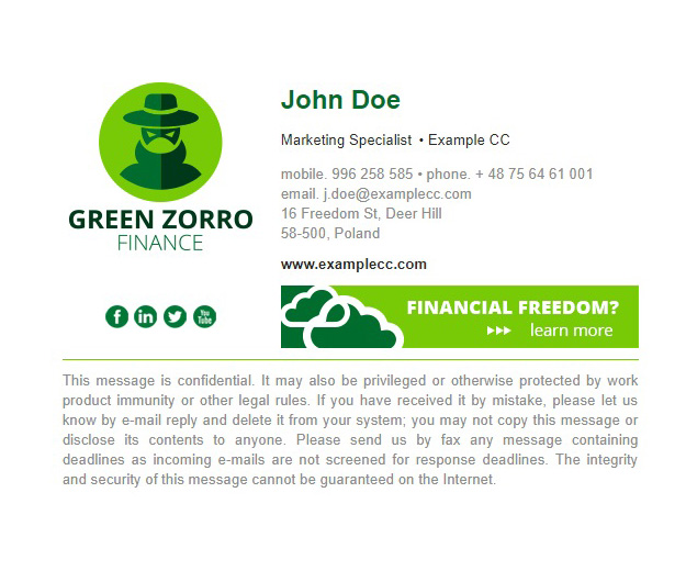 green zorro view signature edit signature load more templates