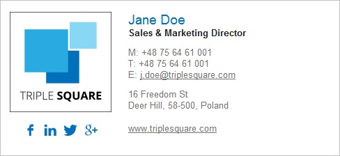 Visual harmony in email signature with company logo