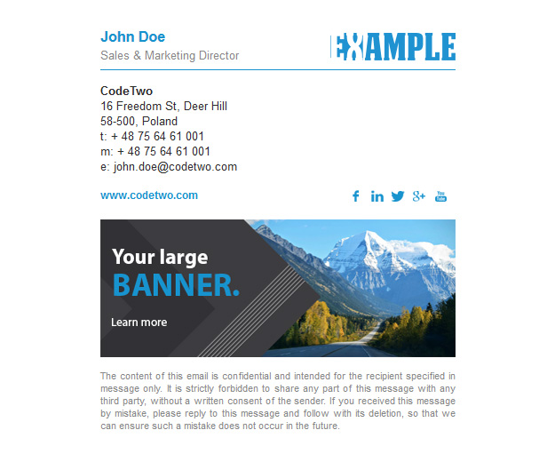 Email signature templates - download for free